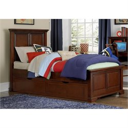 NE Kids Walnut Street Devon Panel Bed with Trundle 1