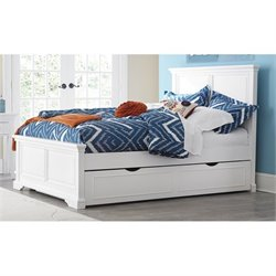 NE Kids Walnut Street Devon Panel Bed with Trundle