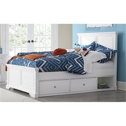 NE Kids Walnut Street Devon Storage Panel Bed