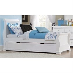 NE Kids Walnut Street Riley Sleigh Bed with Trundle