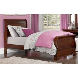 NE Kids Walnut Street Riley Sleigh Bed 1