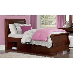 NE Kids Walnut Street Riley Storage Sleigh Bed 1