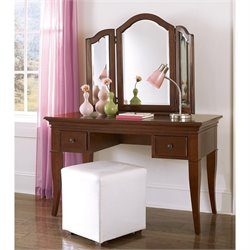 NE Kids Walnut Street Vanity with Storage Mirror
