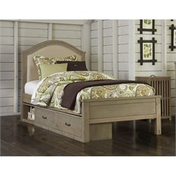 NE Kids Highlands Bailey Upholstered Storage Bed