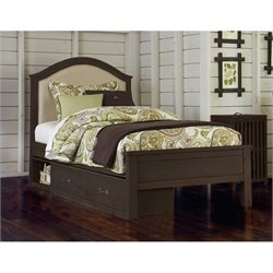 NE Kids Highlands Bailey Upholstered Storage Bed 1