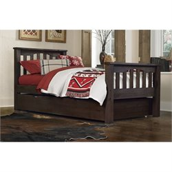 NE Kids Highlands Harper Slat Bed with Trundle 1
