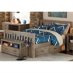 NE Kids Highlands Harper Slat Storage Bed
