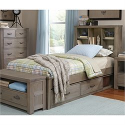 NE Kids Highlands Bookcase Storage Bed
