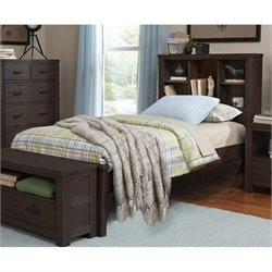 NE Kids Highlands Bookcase Bed 1