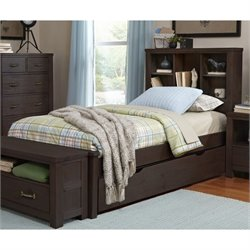 NE Kids Highlands Bookcase Bed with Trundle 1