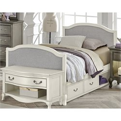 NE Kids Kensington Victoria Twin Upholstered Storage Bed