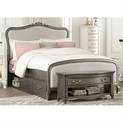 NE Kids Kensington Katherine Upholstered Storage Bed 1