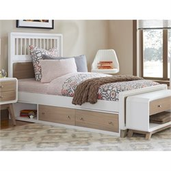 NE Kids East End Spindle Storage Bed