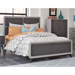 NE Kids East End Full Panel Bed in Gray
