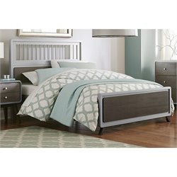 NE Kids East End Full Spindle Bed in Gray