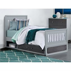 NE Kids East End Jet Twin Storage Bed