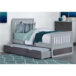 NE Kids East End Jet Twin Bed with Trundle