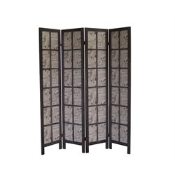 Proman Products Folding Room Divider in Brown