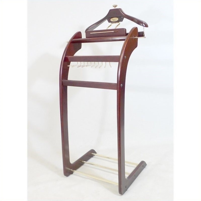 Proman Products Windsor Signature Valet in Dark Mahogany