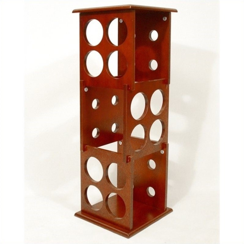 Proman Products Fuji 3 Layer Wine Rack in Mahogany