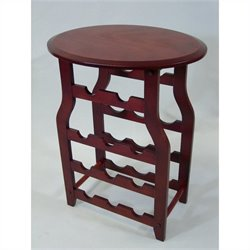 Proman Products Apachi Wine Rack in Mahogany Finish