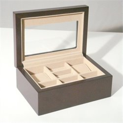 Proman Products Bellissimo Palermo Watch and Cufflinks Box in Walnut