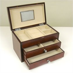 Proman Products Bellissimo Genoa Jewelry Box in Dark Cherry