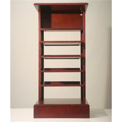 Proman Products Caesar Magazine Stand in Mahogany