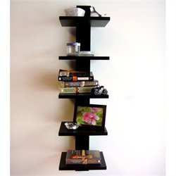 Proman Products Spine Wall Book Shelves in Black