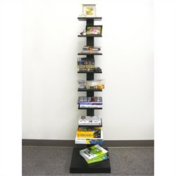 Proman Products Spine Standing Book Shelves in Black