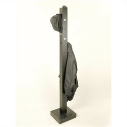 Proman Products Bedford Coat Tree. Black with aluminum push out pin