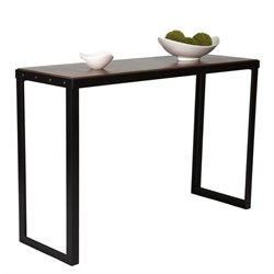Proman Belvidere Chic Sofa Table in Walnut and Black