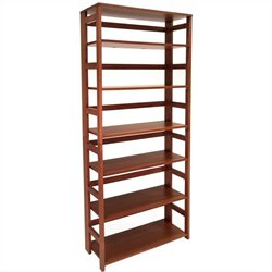Regency Flip Flop 67 inch High Folding Bookcase in Cherry