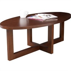 Regency Chloe Oval High Veneer Coffee Table in Mocha Walnut