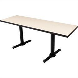 Cain Rectangular Training Table in Beige
