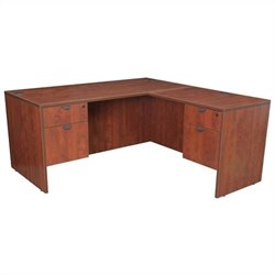Regency Legacy Desk with Pedestals and Return in Cherry