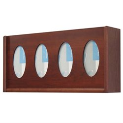 Oval Glove and Tissue Box Holder in Mahogany