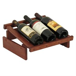 Dakota 3-Slot Display Top Wine Rack in Mahogany