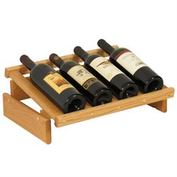 Dakota 4-Slot Display Top Wine Rack in Light Oak