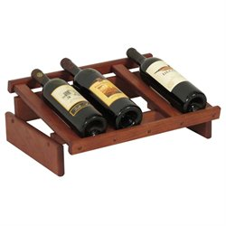 Dakota 4-Slot Display Top Wine Rack in Mahogany