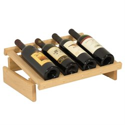 Dakota 4-Slot Display Top Wine Rack in Natural
