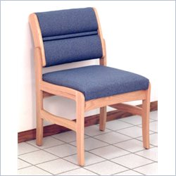 Dakota Wave Valley Armless Leg Chair in Light Oak