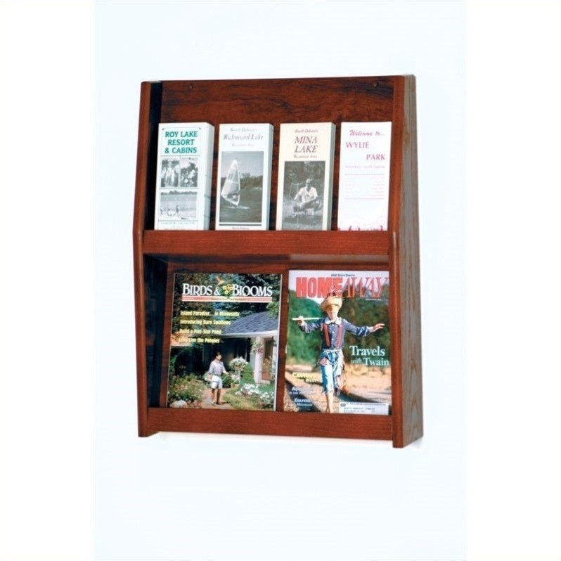 Wooden Mallet 8 Pocket Literature Display in Mahogany