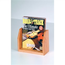 Wooden Mallet Countertop Magazine Display with 1 Pocket in Light Oak