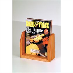 Wooden Mallet Countertop Magazine Display with 1 Pocket in Medium Oak