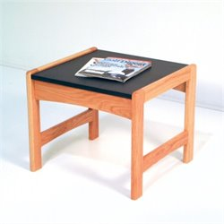 Dakota Wave End Table in Light Oak