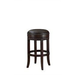 American Heritage Portofino Leather Swivel Bar Stool in Sierra