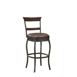 American Heritage Riverton Leather Swivel Barr Stool