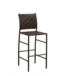 American Heritage Sarasota Leather Bar Stool in Pepper