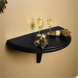 American Heritage Billiards Chicago Wall Table in Black Finish